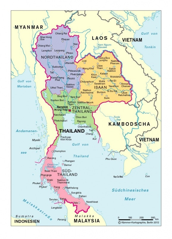 Thailand Regionen