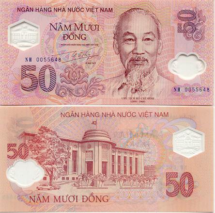 Vietnam Geld: 50 Dong Geldschein
