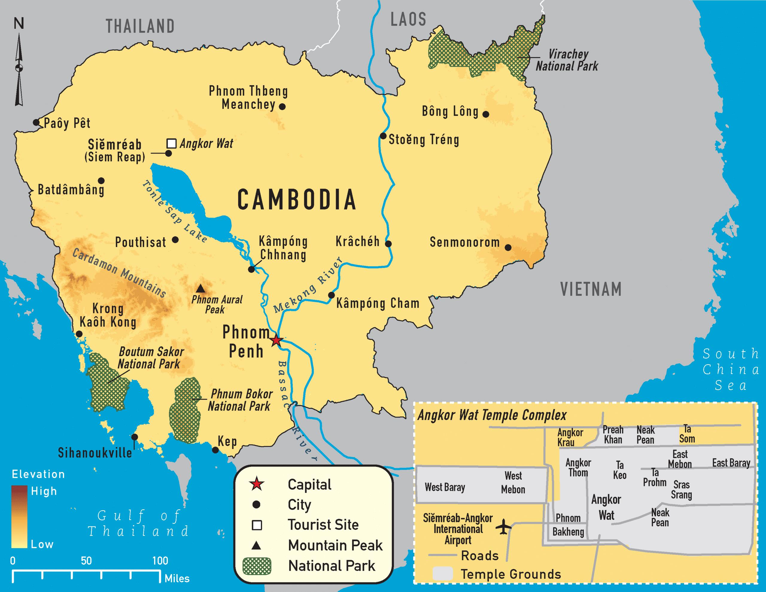 Kambodscha Malaria Map, Karte