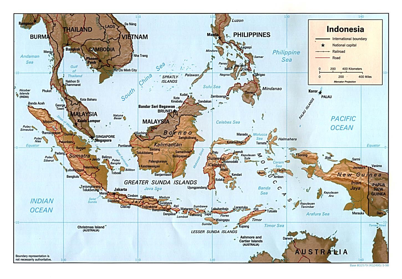 Indonesien Karte, kostenlos