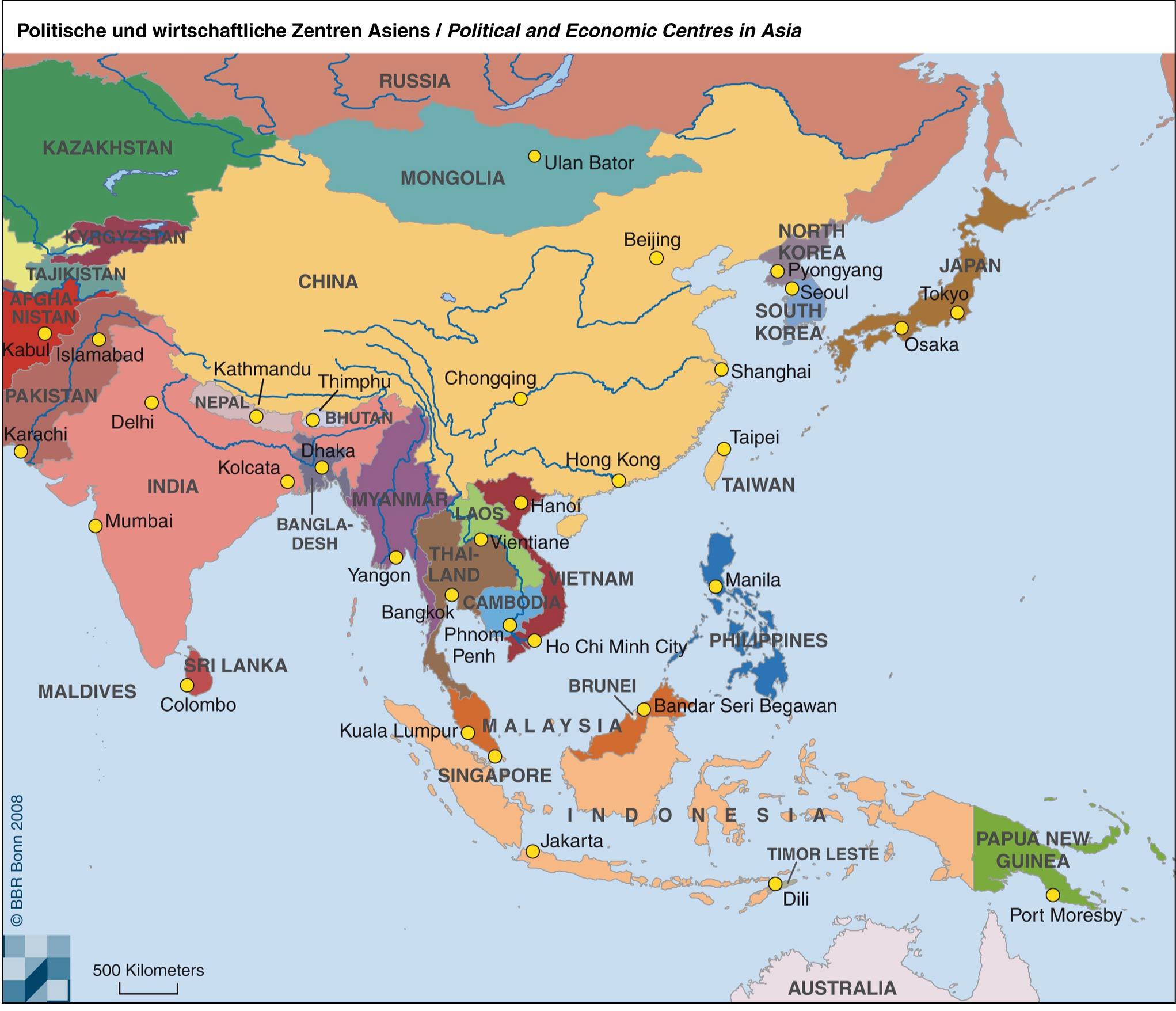 Karte China Hong Kong.Asien Karten Länder Hauptstädte Gebirge Flüsse Meere