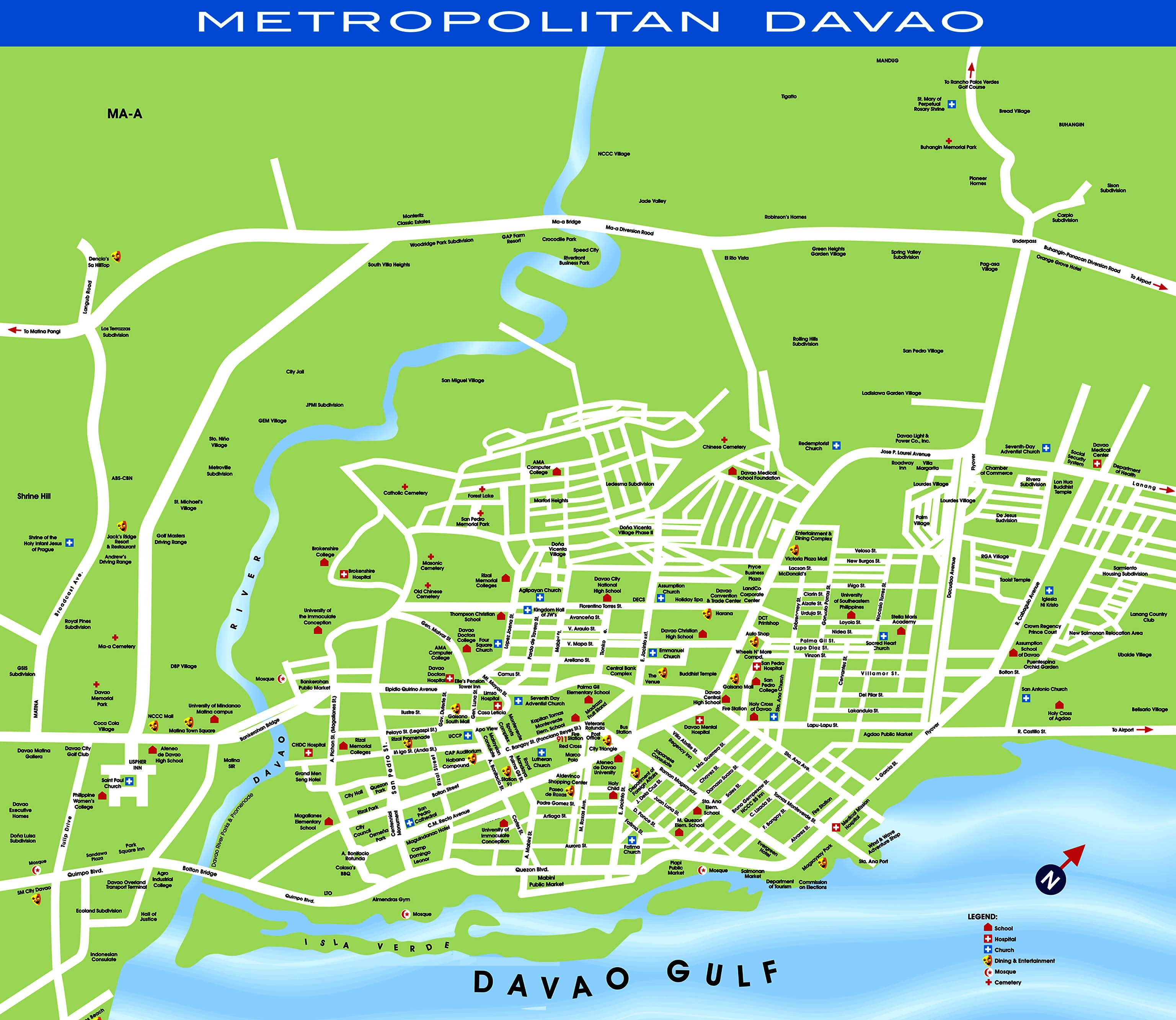 Davao City Map