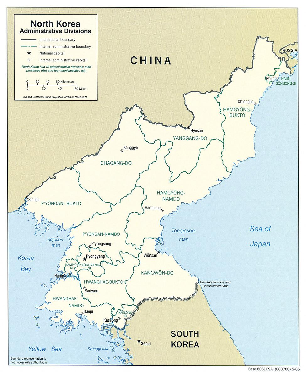 Nordkorea Karte