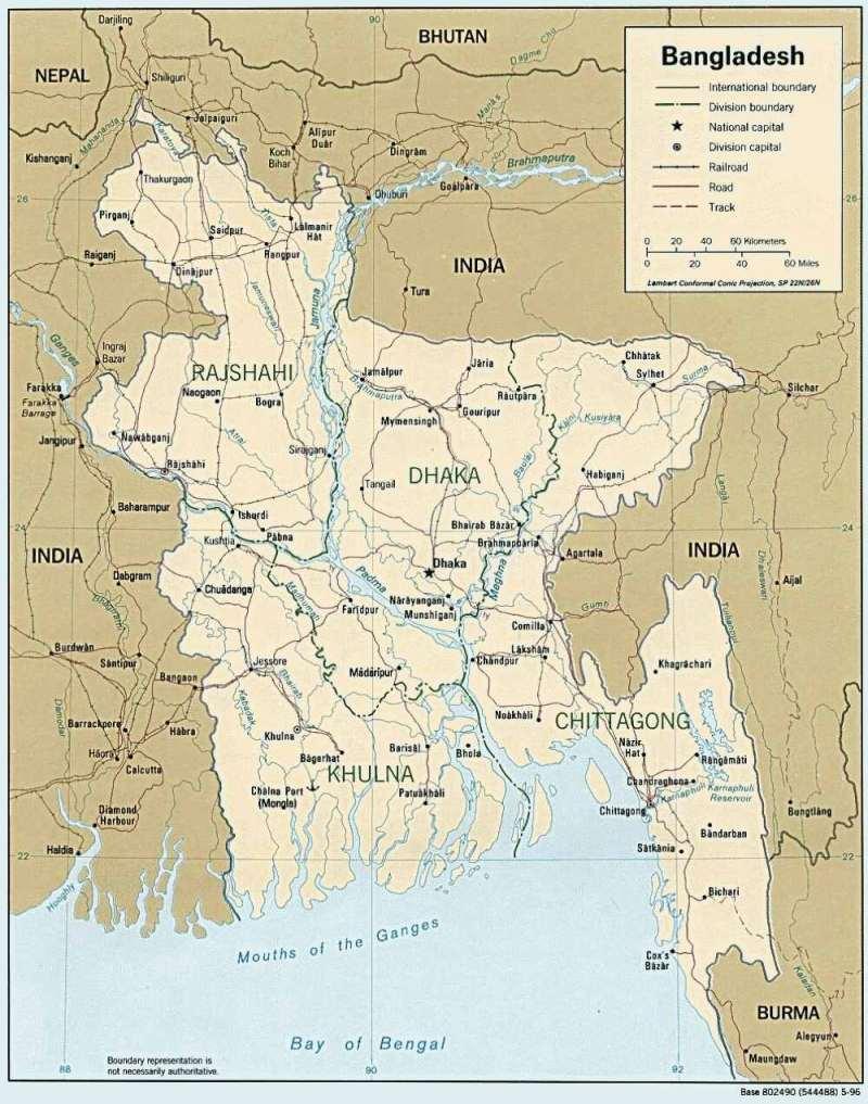 Bangladesch Karte