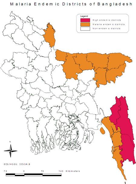 Bangladesh Malaria Map