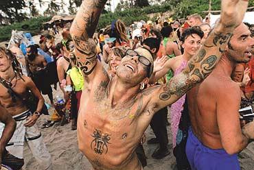 Goa Party in Goa, Indien