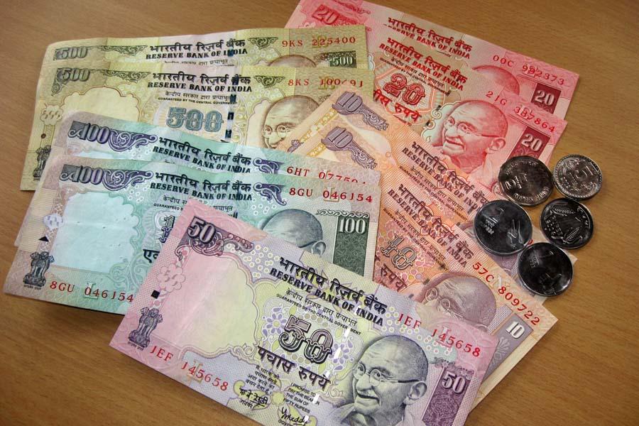 Indisches Geld, Rupie Banknoten