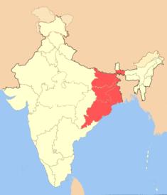 Ostindien Karte