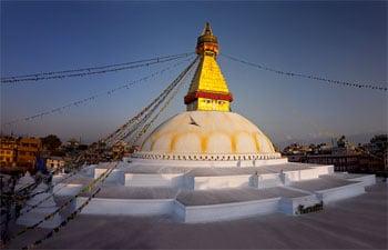 Stupa in Bodnath, einem Vorort von Kathmandu