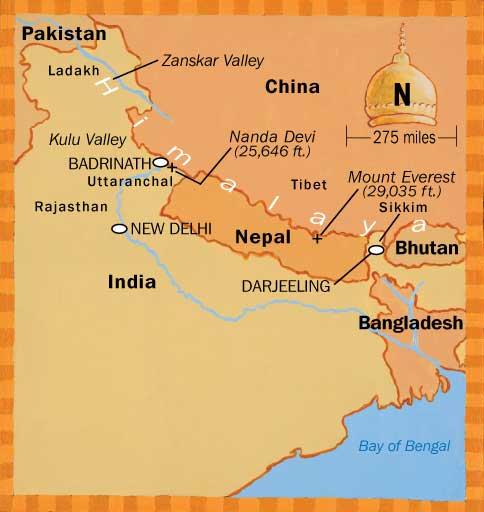 Himalaya Karte