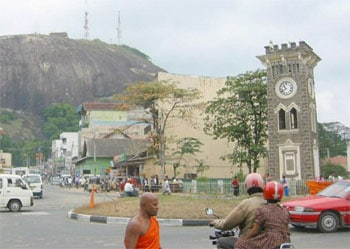 Der schiefe Uhrenturm (Clock Tower) in Kurunegala