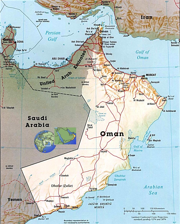 Oman Karte