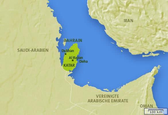 Katar Karte, Landkarte, Weltkarte