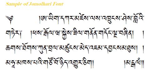 Dzongkha Language Alphabet