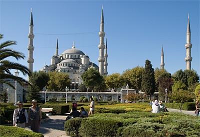 Türkei Istanbul Sehenswürdigkeiten Sultan-Ahmed Moschee, Blaue Moschee