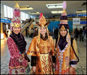 Kasachstan Traditionelle Kleidung, Kasachstan Menschen