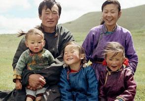 Mongolische Familie, Mongolen, Mongolei Menschen