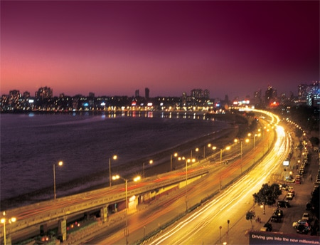 Mumbai Marine Drive by night