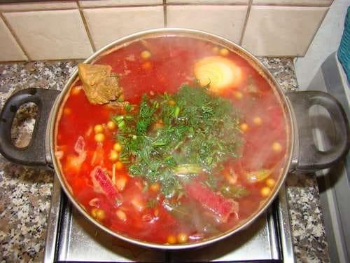 Russisches Essen, Russische Küche, Borschtsch