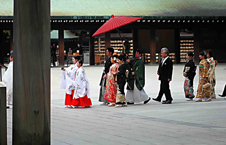 Shinto-Hochzeit am Meiji-Schrein