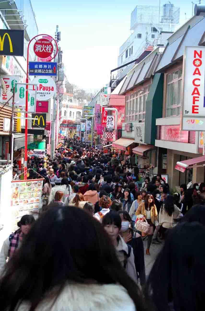 Takeshita Dori in Harajuku, Tokyo Japan