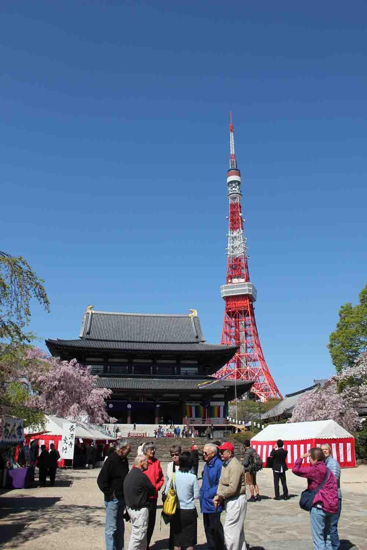 Zojoji-Tempel Tokyo Tower Japan