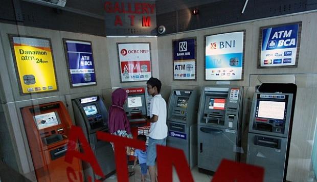 Geldautomat Indonesien, ATM