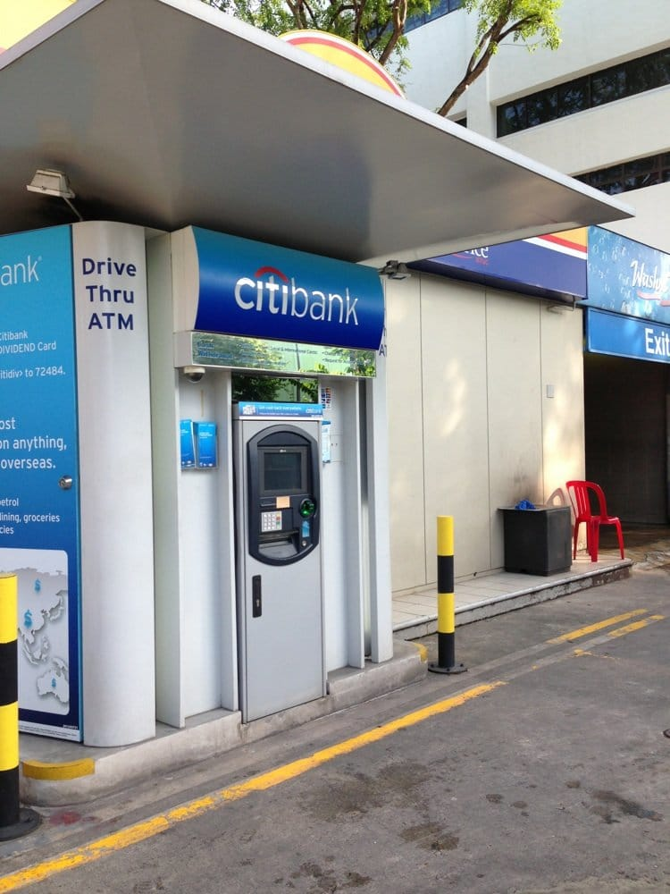 Singapore ATM, Singapur Geldautomat