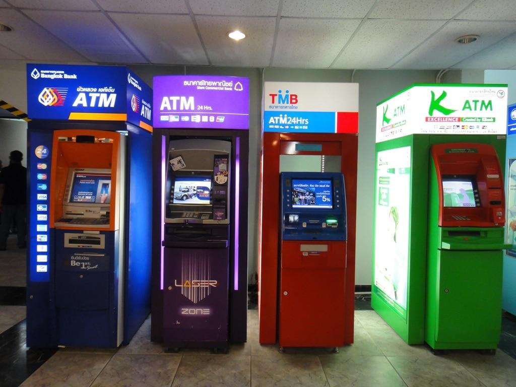 Thailand ATM, Geldautomaten